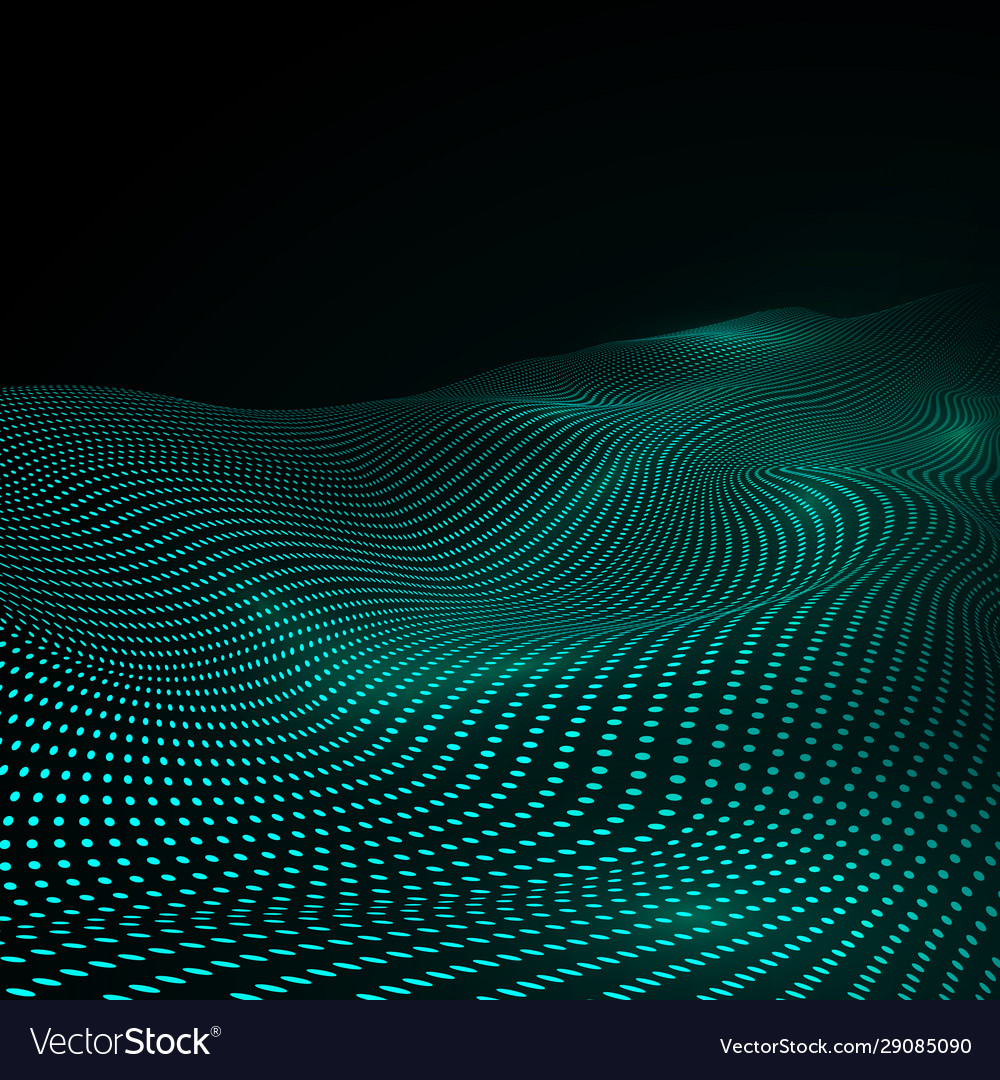 Cyber or technology background in green colors