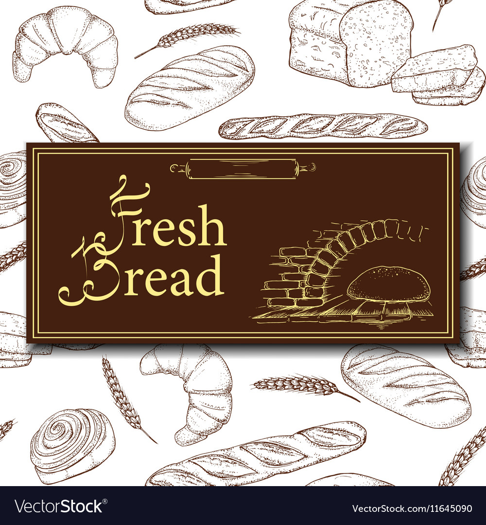 Design for bakery or baking shop with hand