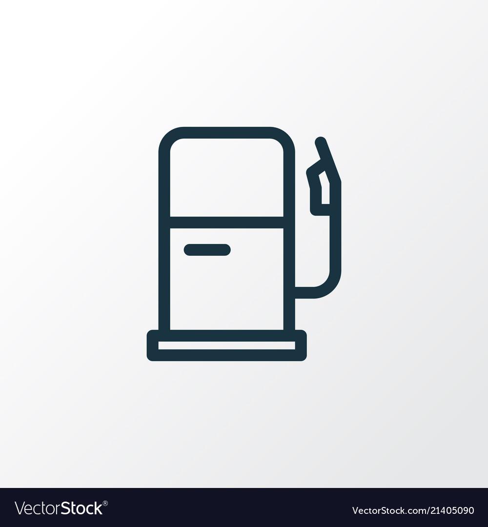Gas Station Icon Line Symbol Premium Quality Vector Image
