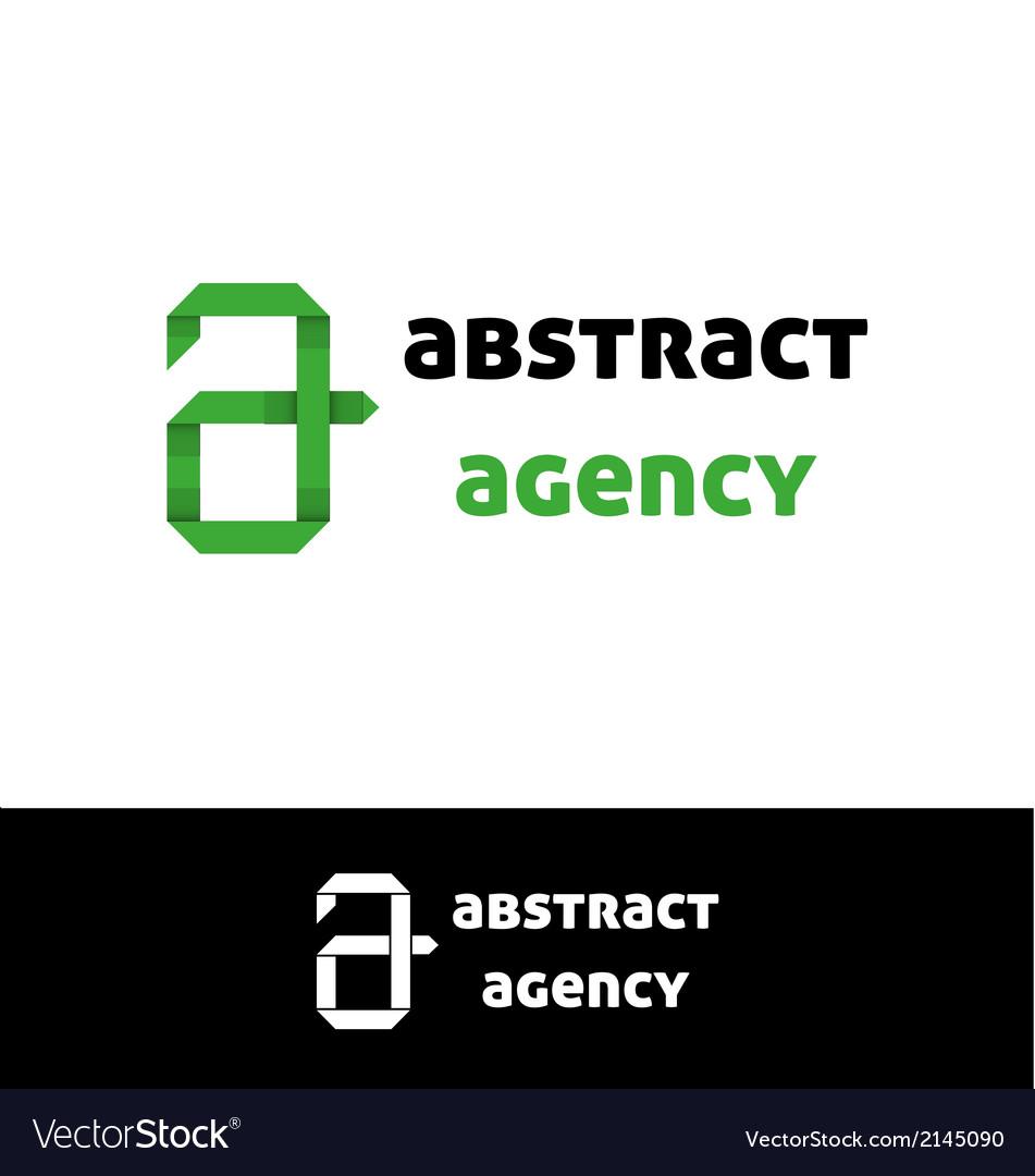 Green a letter logo