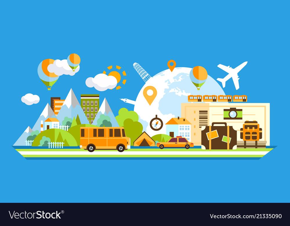 Travel around the world tourism concept