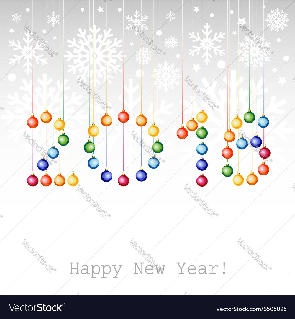 2016 Happy New Year greeting card or background