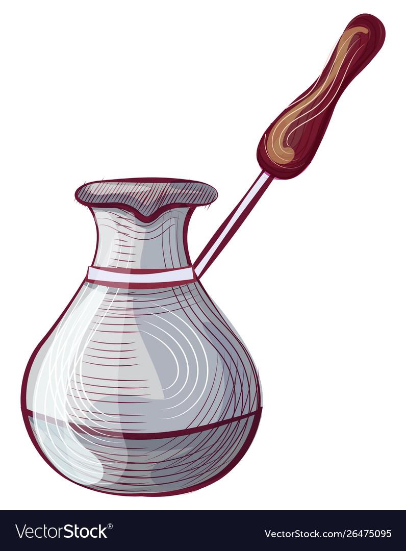 Caffeine drink metal pot mug with handle