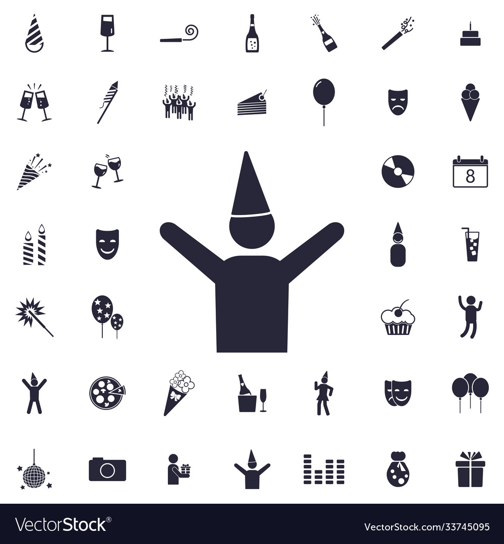 Celebrating man icon