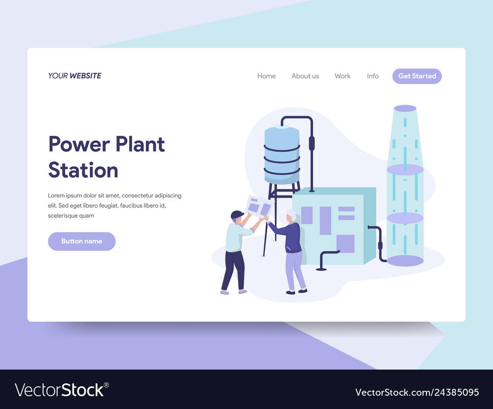 Landing page template of power plant station