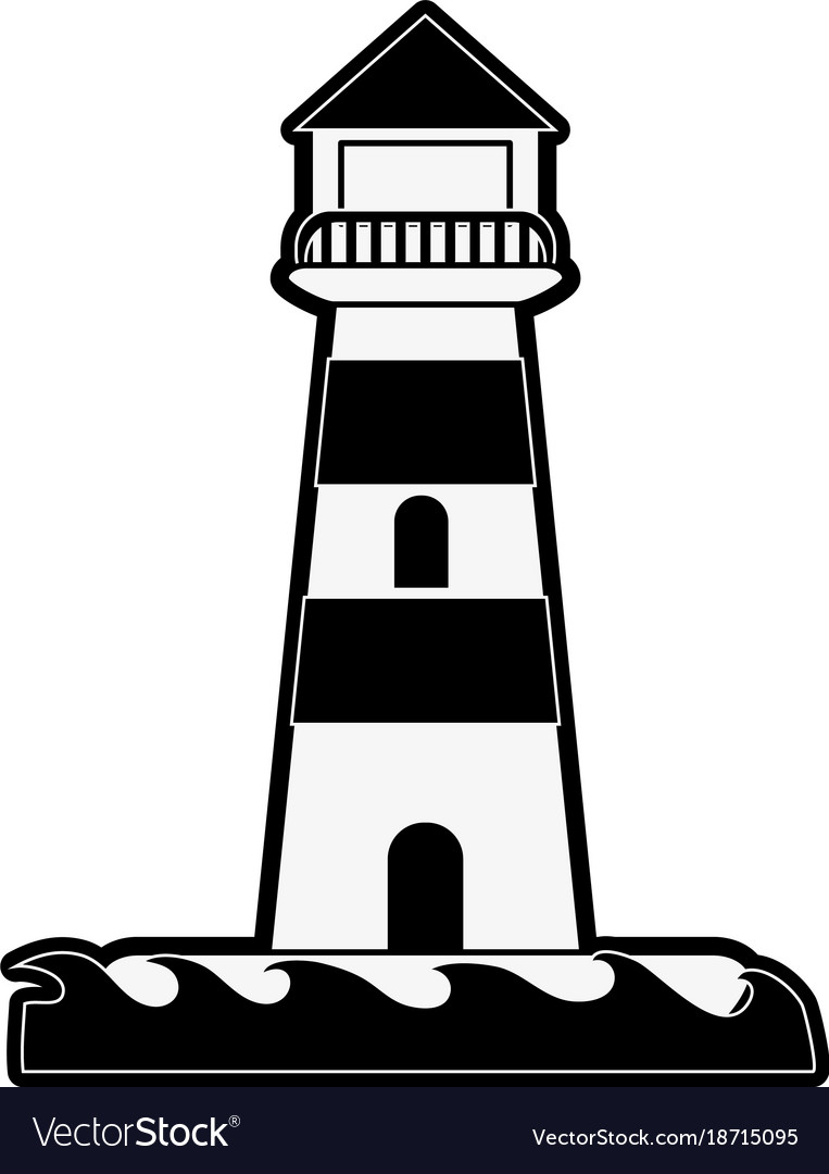 lighthouse isolated symbol royalty free vector image rh vectorstock com lighthouse vector file lighthouse vector free download