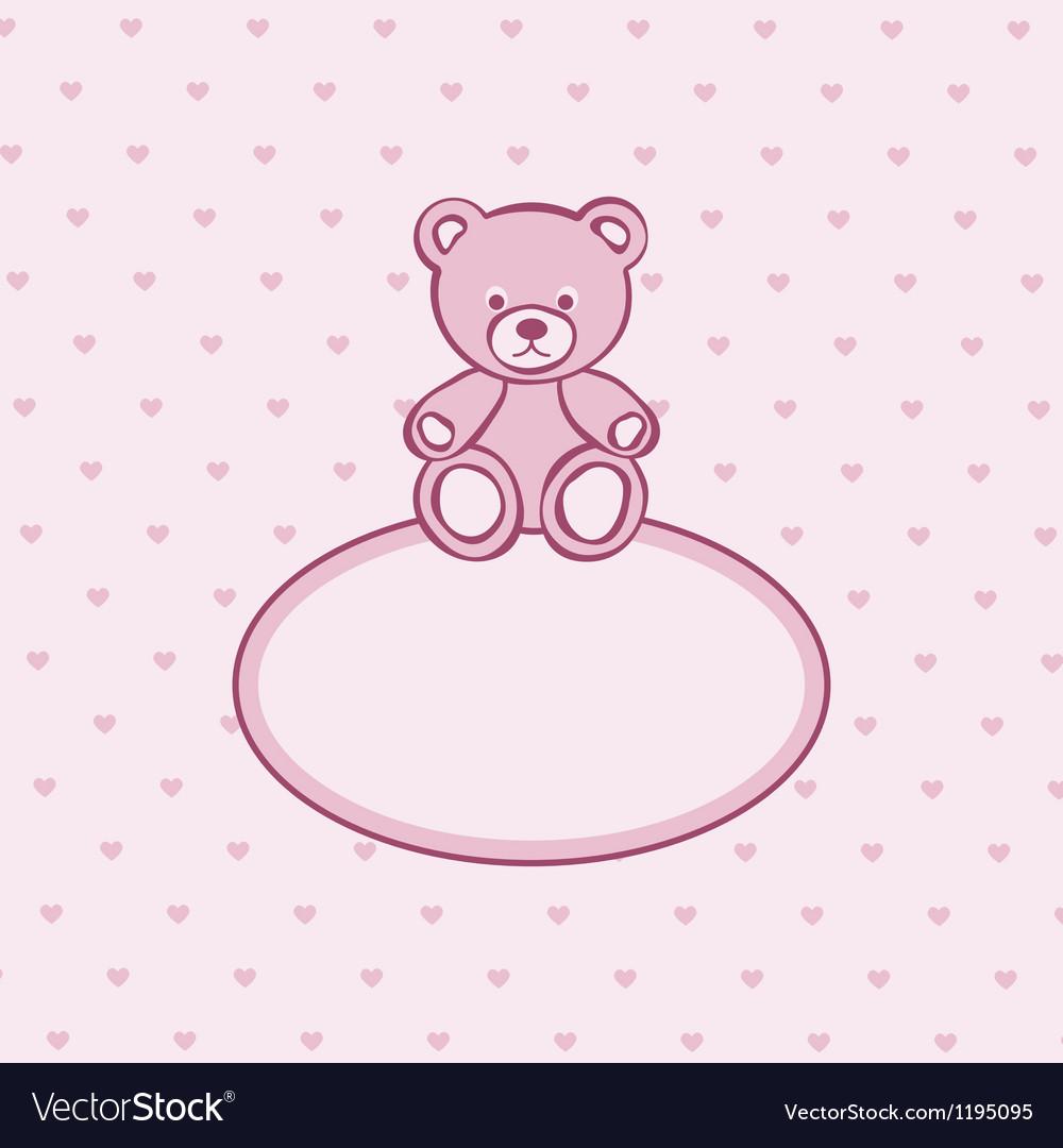 Teddy bear frame Royalty Free Vector Image - VectorStock