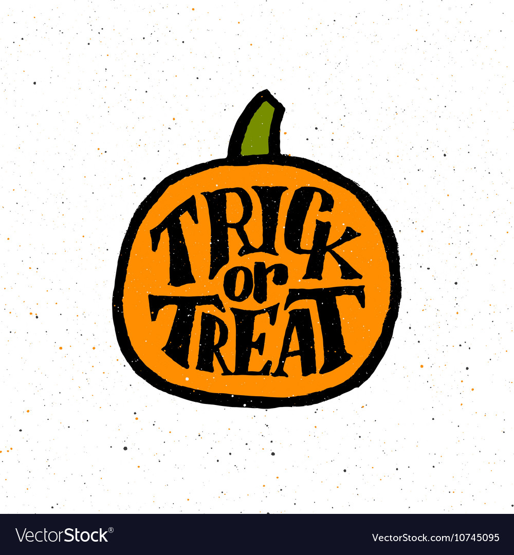Vintage poster for Halloween Party with typography