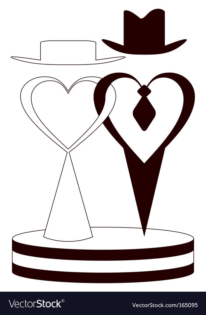 wedding couple royalty free vector image vectorstock rh vectorstock com wedding vector png wedding vector photoshop free