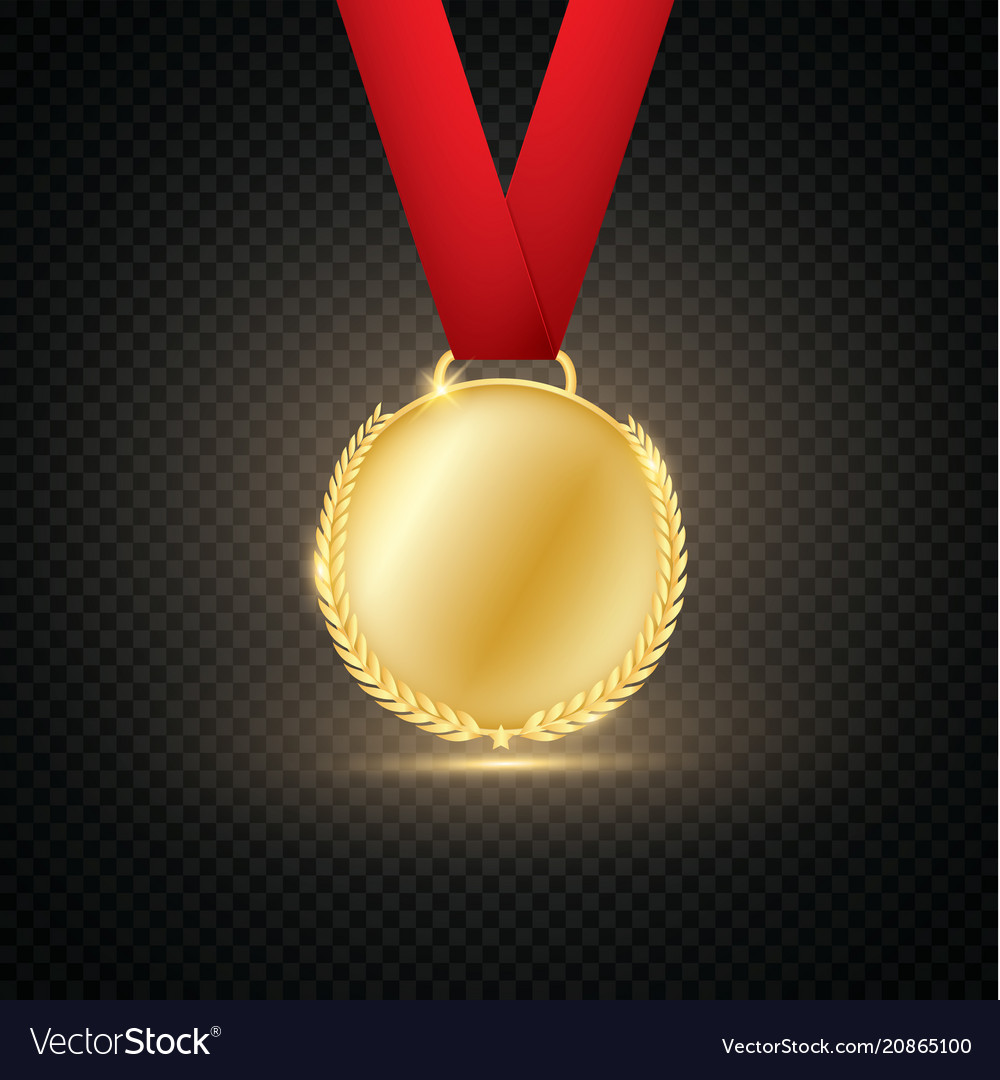 Award medals isolated on transparent background