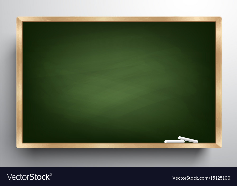Blackboard background and wooden frame Royalty Free Vector