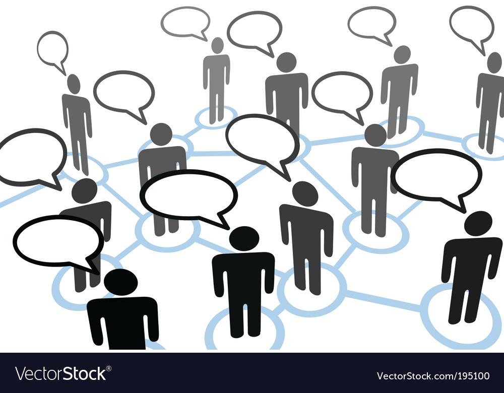 everybody talking royalty free vector image vectorstockeverybody talking vector image