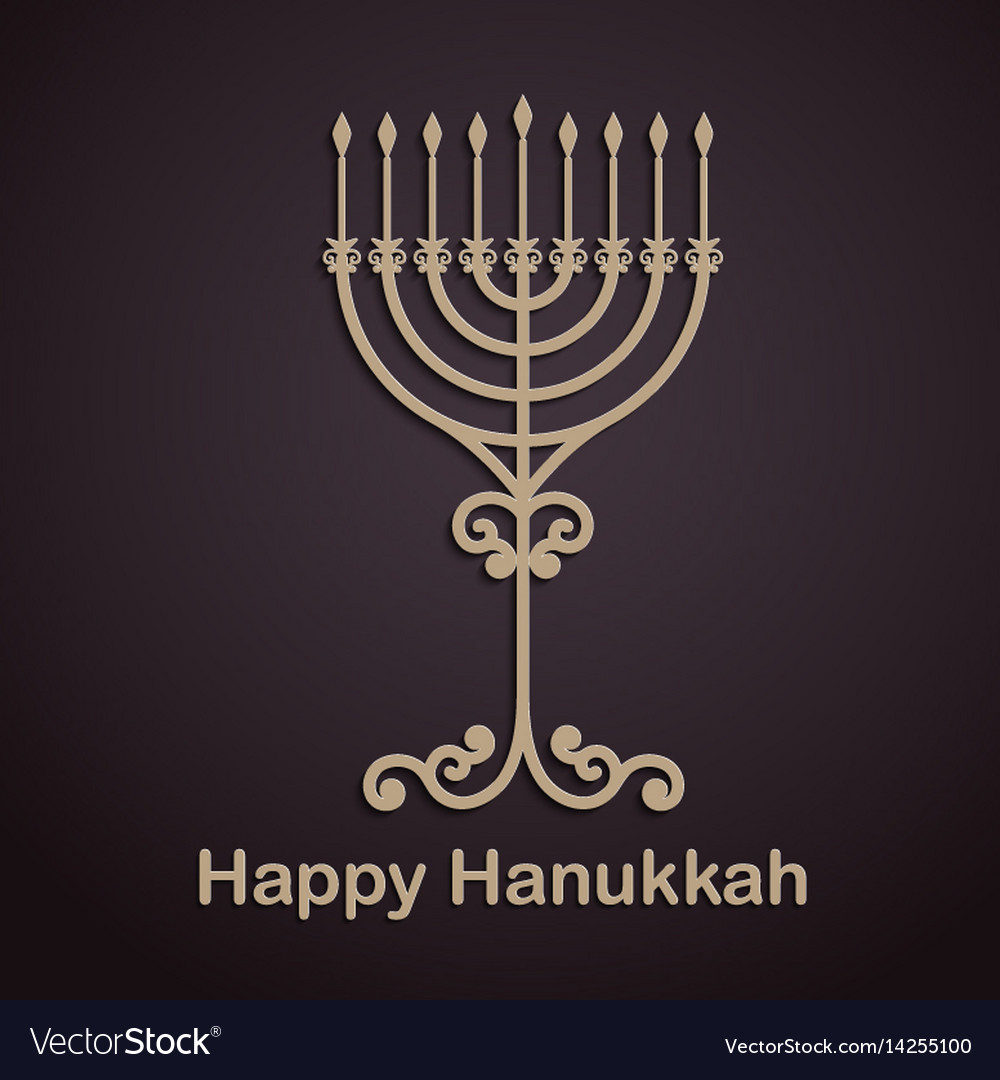 Hanukkah background with menorah