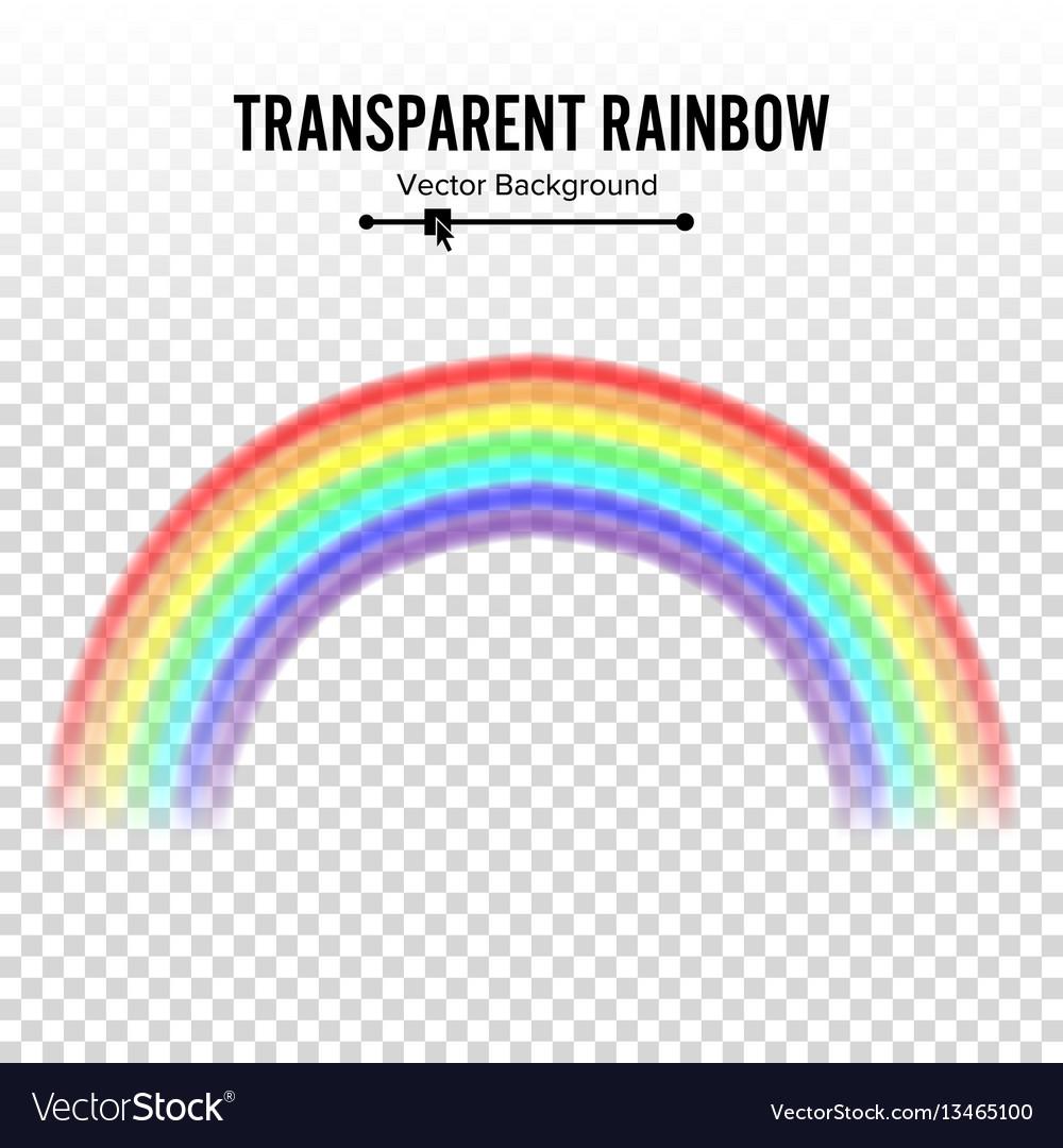 Rainbow classic round shape realistic