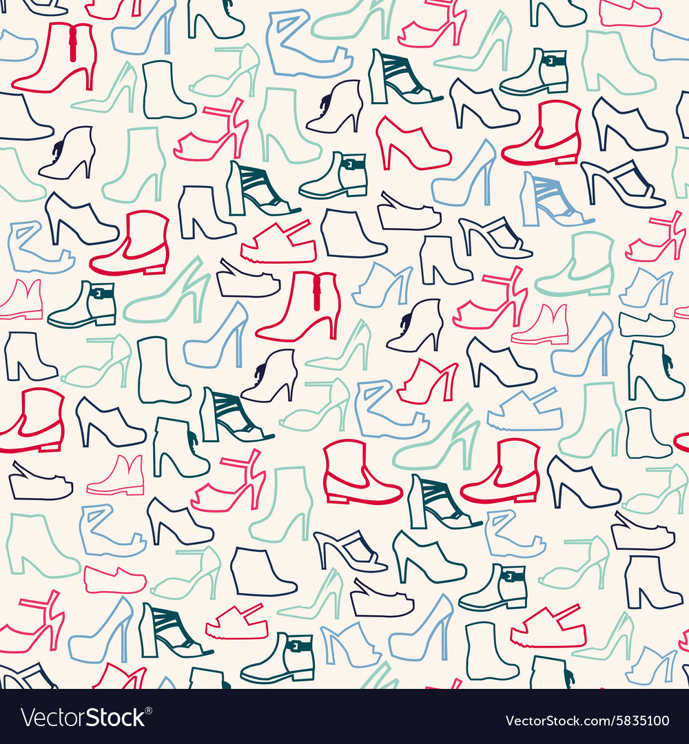Shoes pattern fashion womens shoes