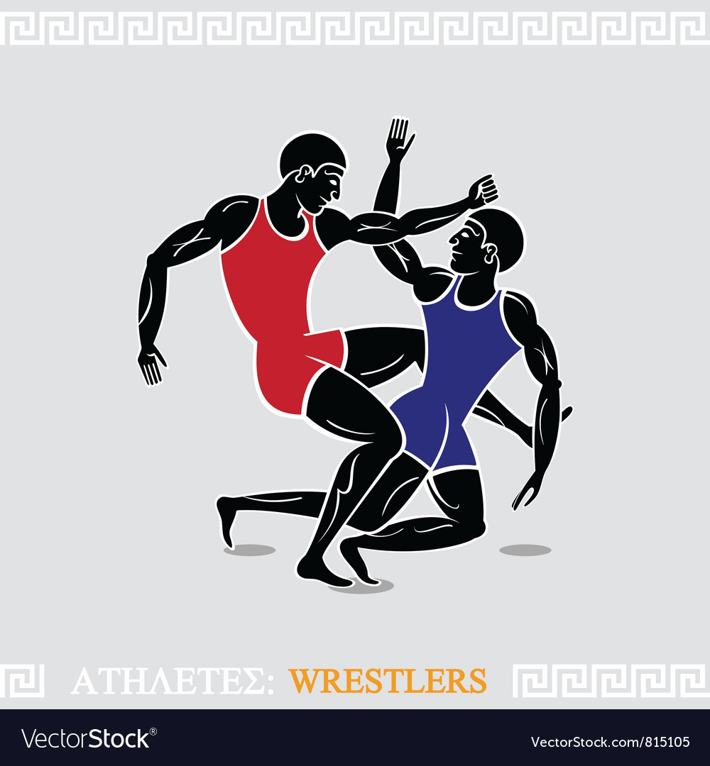 Athlete wrestlers