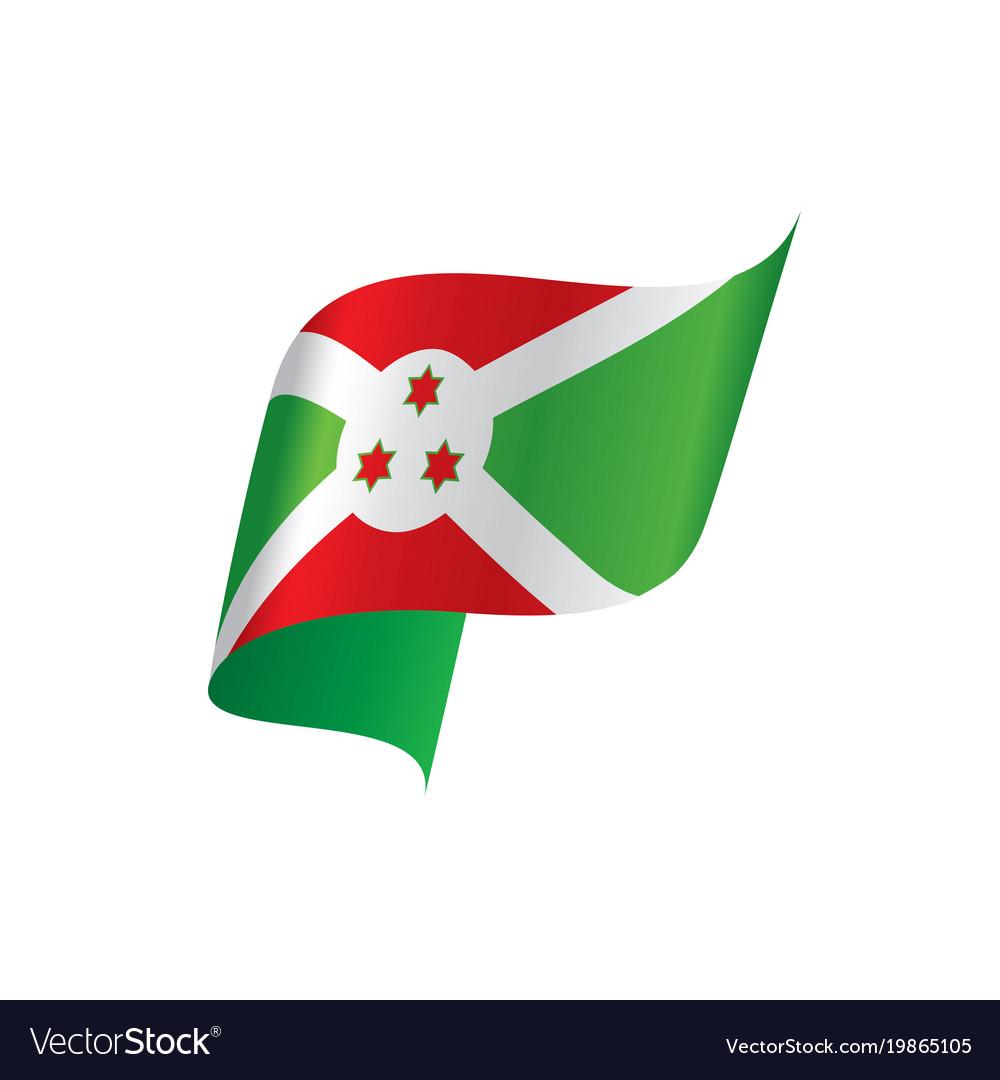 Burundi Flag Royalty Free Vector Image Vectorstock
