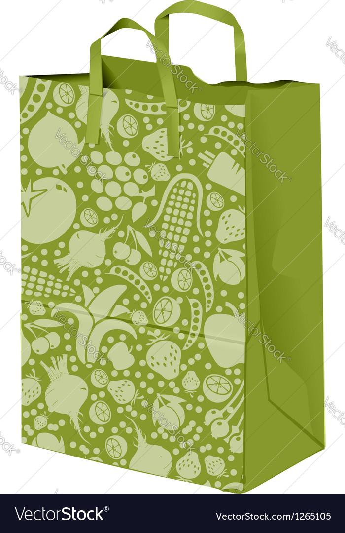 Grocerie Paper bag vector image