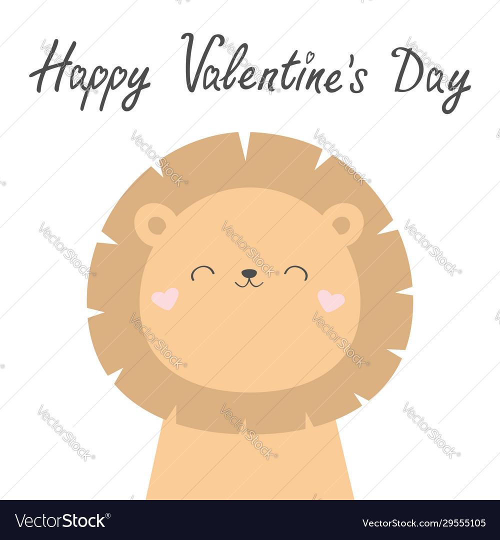 Happy valentines day koala bear face head cute
