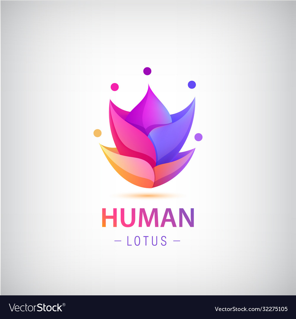 Human men logo people group 5 in shape