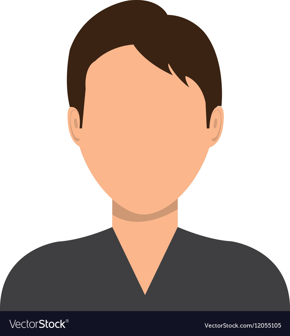 Male Profile Avatar With Brown Hair Royalty Free Vector