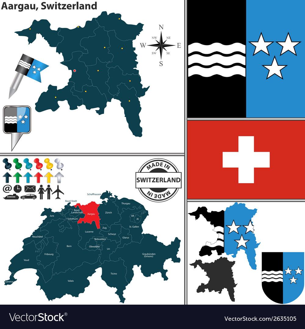 Map of Aargau