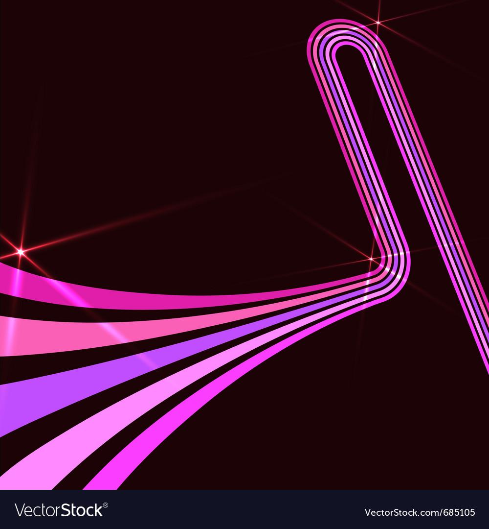 Retro Art Disco Dance Background With Dj Silhou