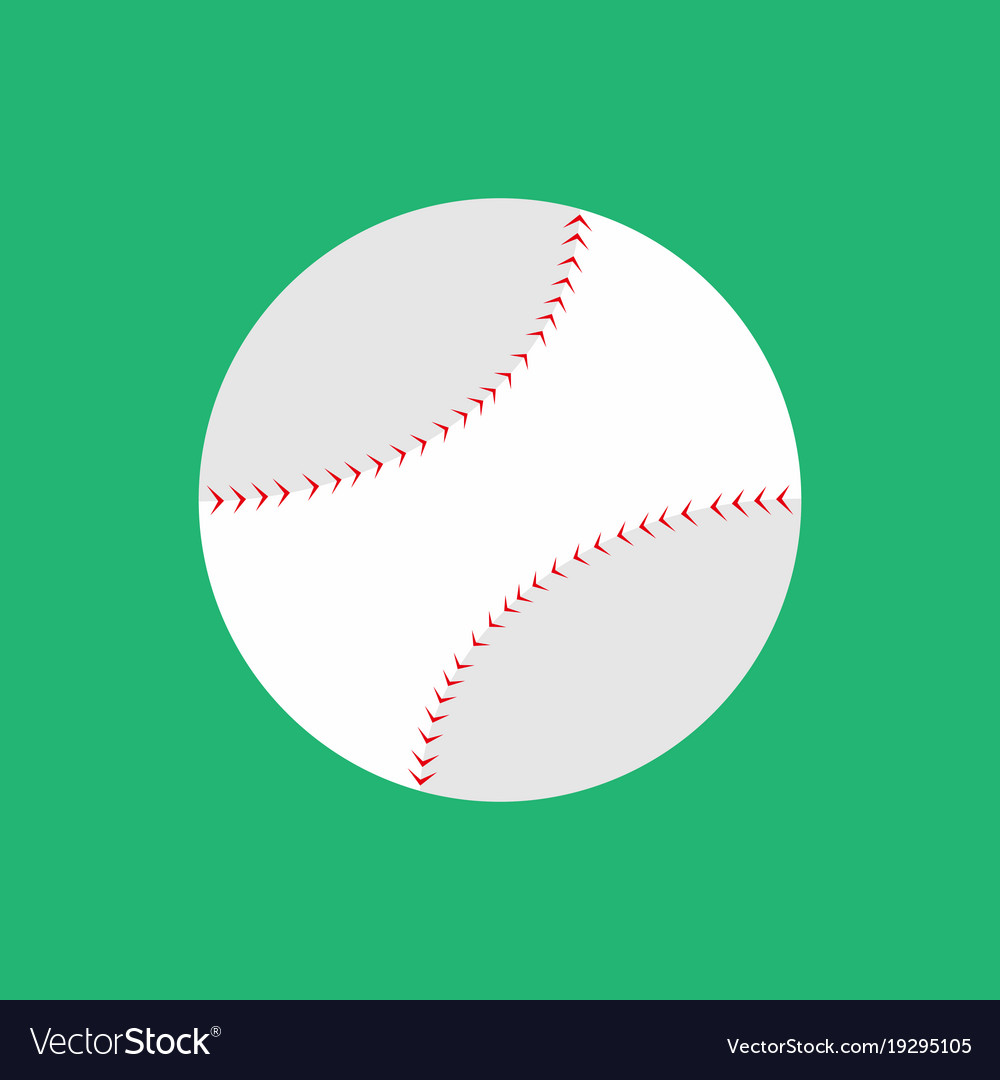 Simple flat style baseball graphic