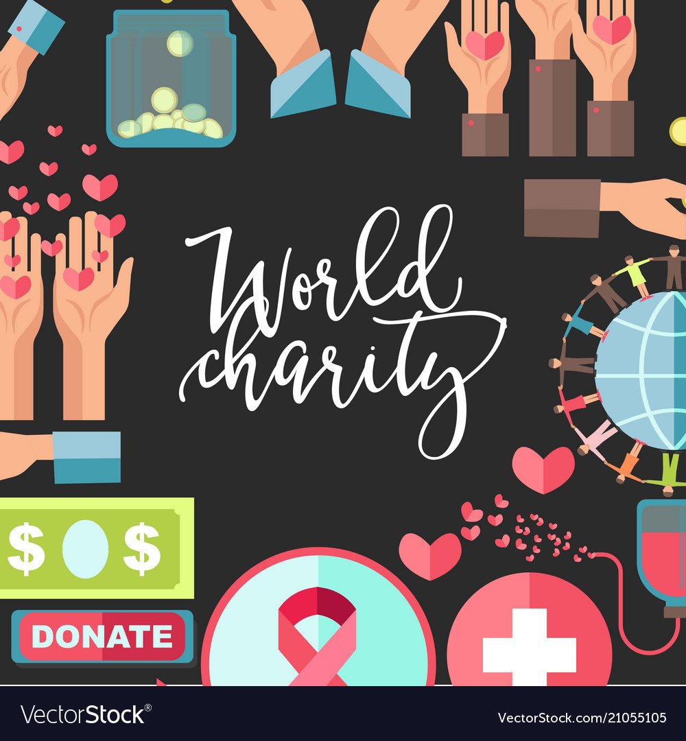 World charity and social help poster