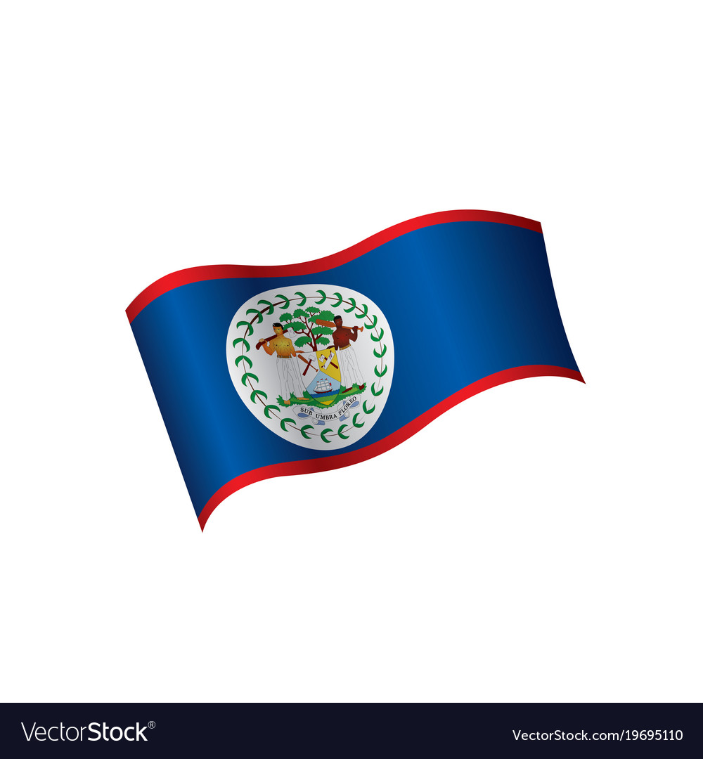belize flag royalty free vector image vectorstock
