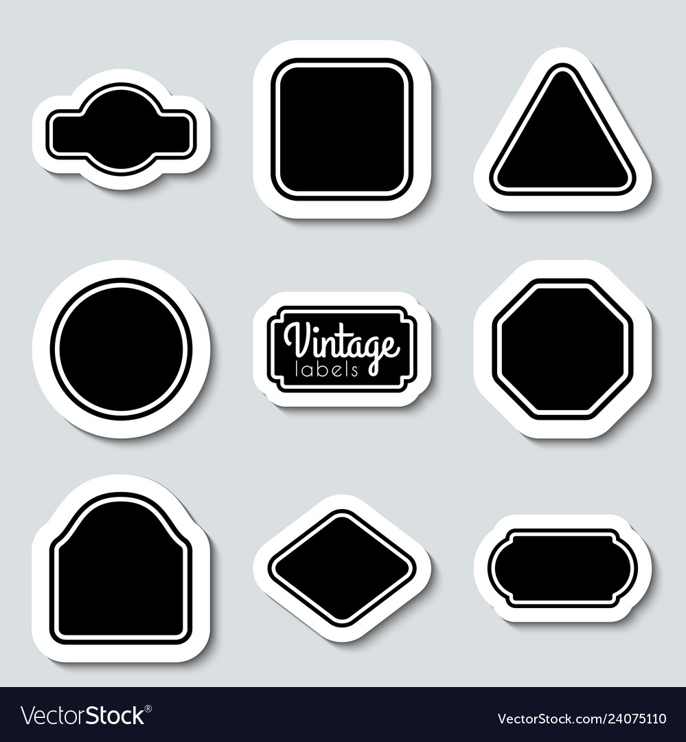 Black vintage labels set frames for design