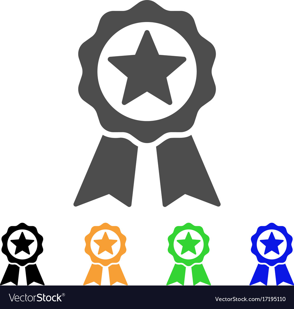 Certificate Seal Flat Icon Royalty Free Vector Image