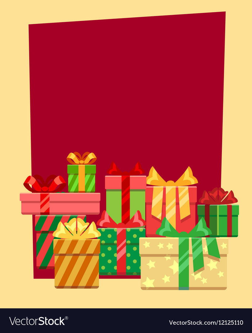 Christmas frame or greeting card template