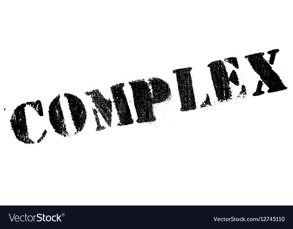 Complex rubber stamp vector image
