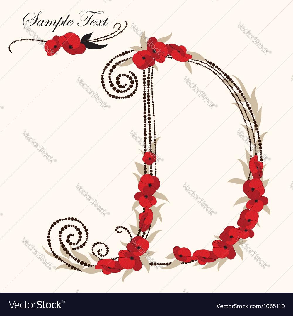 Dhand drawn flower alphabet