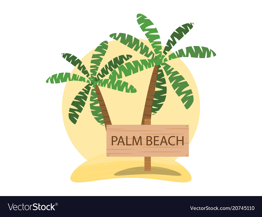 Palm beach logo design summer pattern