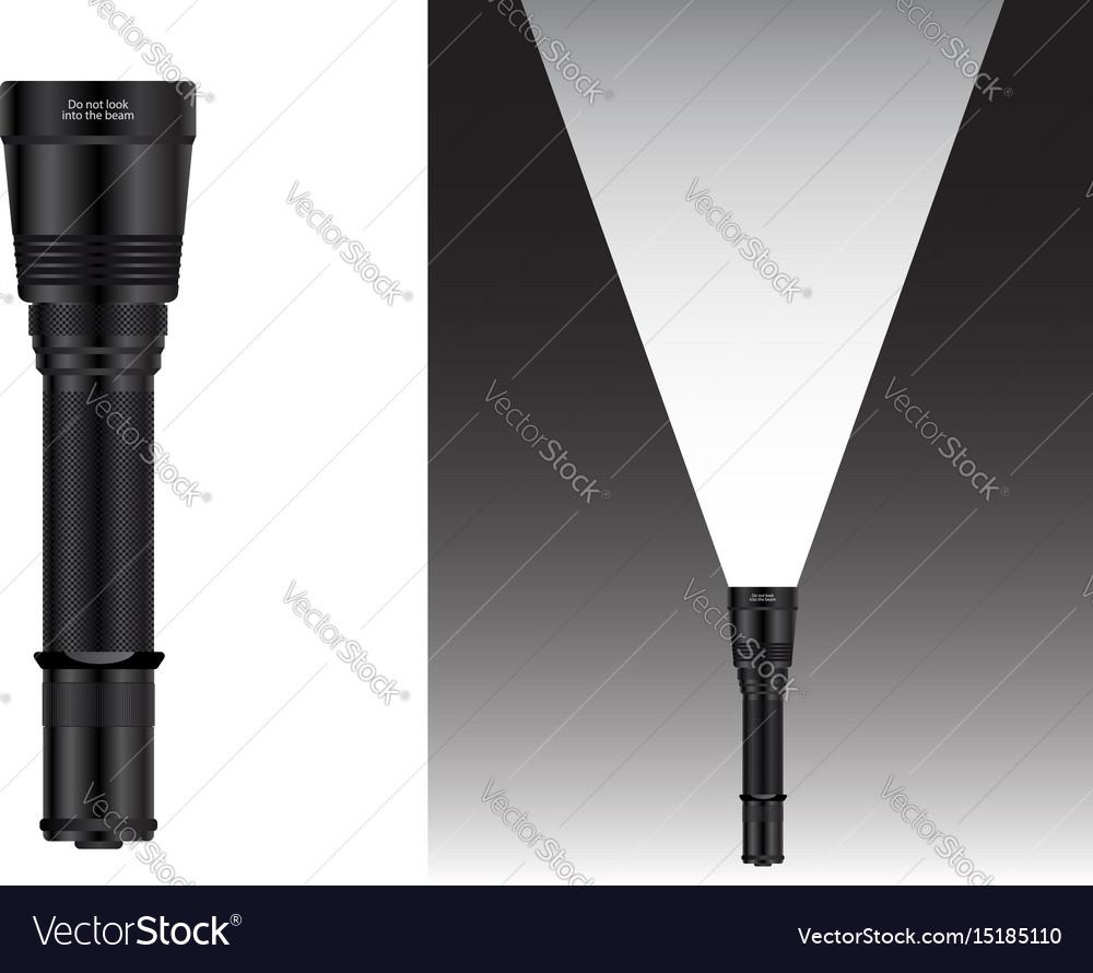 Realistic waterproof flashlight
