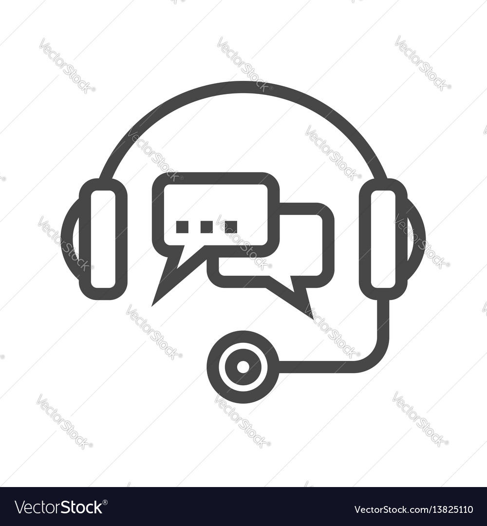 Support thin line icon vector image