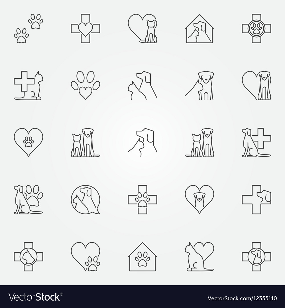 Veterinary icons or logo elements
