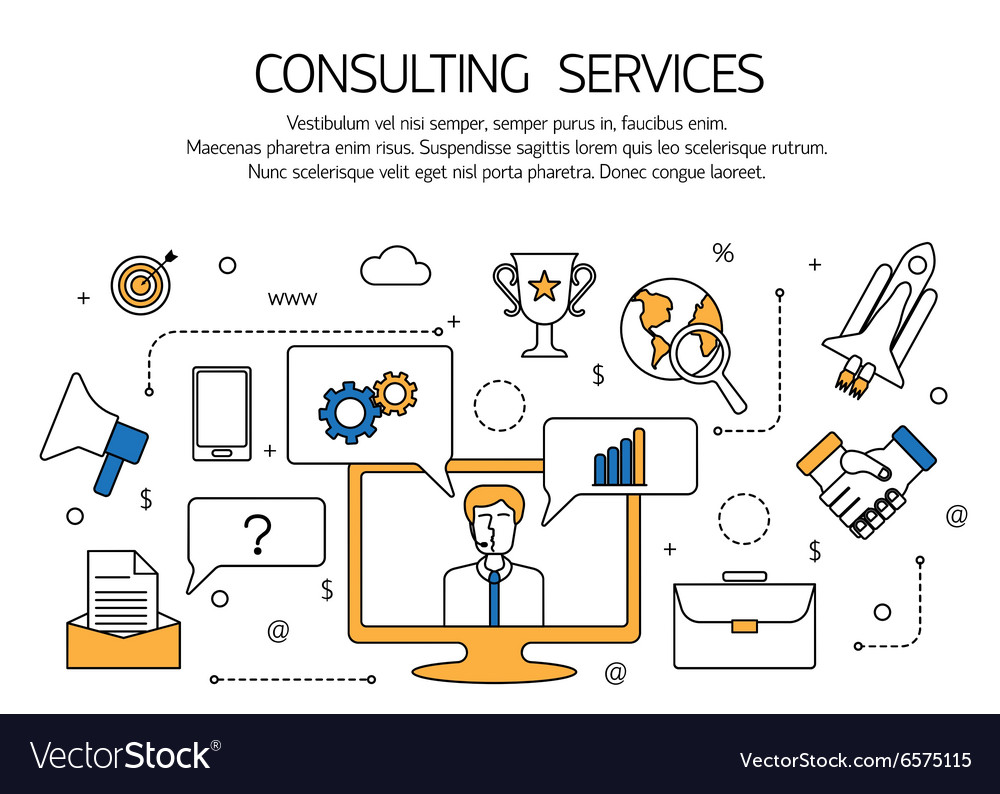 Consulting services outline concept technical