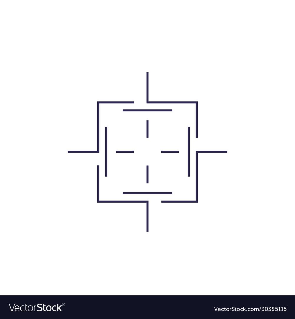 Crosshair square line shape