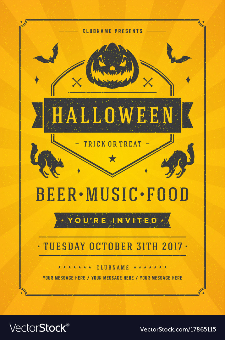 Halloween celebration night party poster or flyer