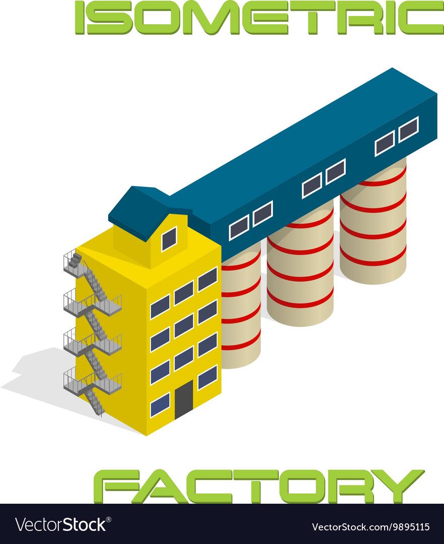 Isometric modern factory