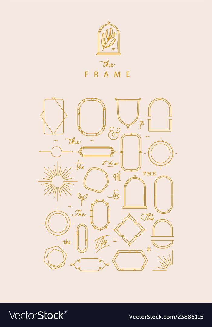 Modern frames and elements beige