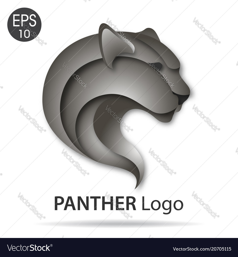 panther logo royalty free vector image vectorstock