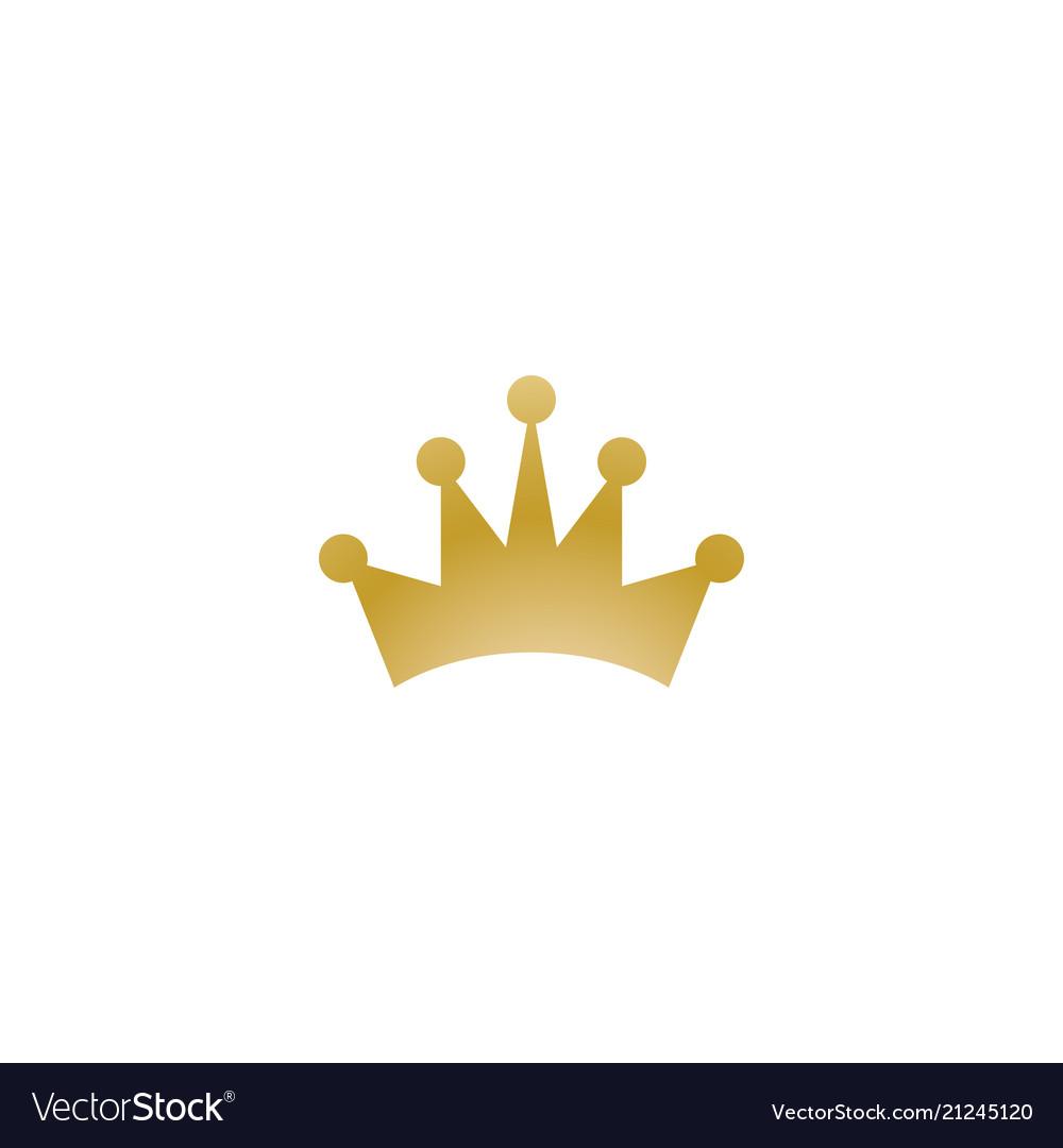 Gold crown logo icon element