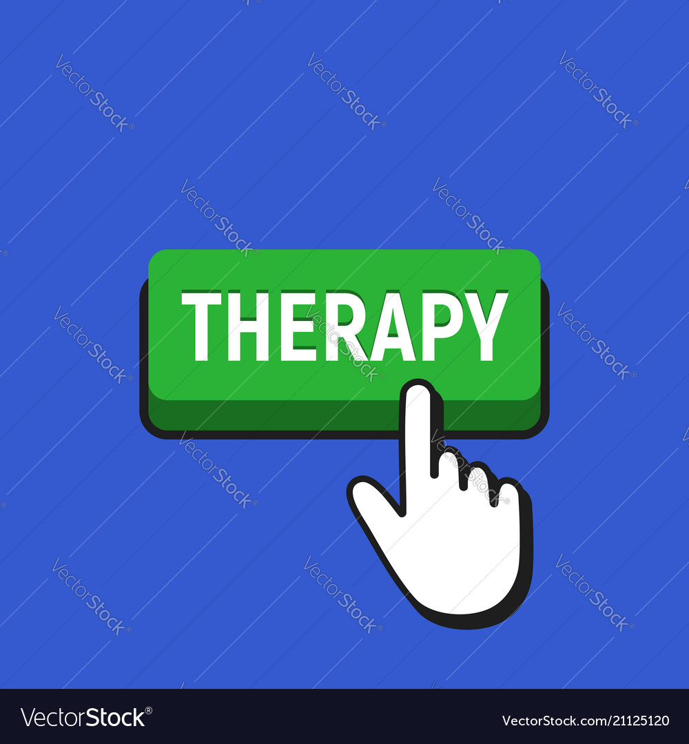 Hand mouse cursor clicks the therapy button