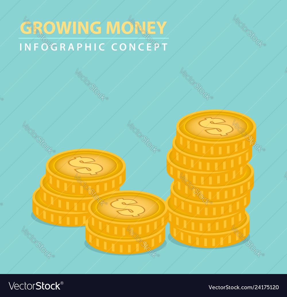 Money coins concept