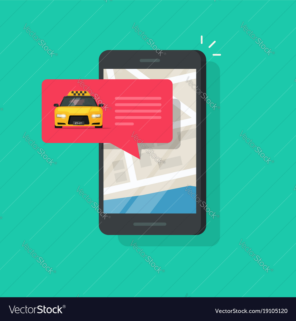 Online taxi service on mobile phone