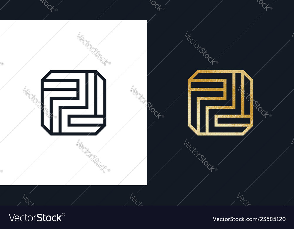 Square logotype template positive and negative